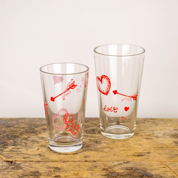 Glas / Wasserglas 200ml / 300ml - Design Wedding