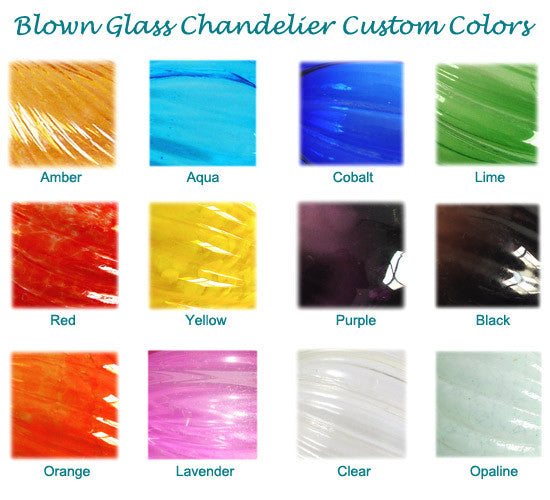 Blown Glass Colors - Ner Tamid & Temple Glass Colors