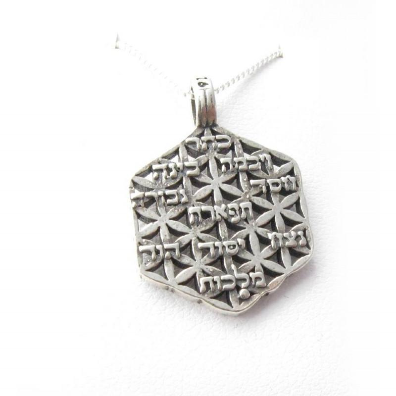 10 Sefirot Necklace Pendant