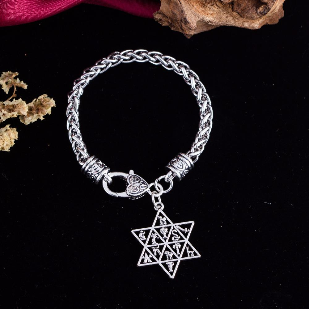 12 Tribes of Israel Star of David Bracelet