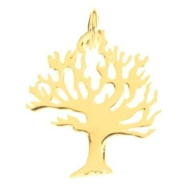 14 Karat Gold Tree Of Life Pendant 18 inches Chain (45 cm) 14Kt Yellow Gold None Thanks