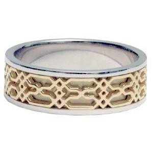 14Kt Gold Ring Band - Middle Eastern Windows