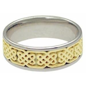 14Kt White Gold Ring - Weave Pattern
