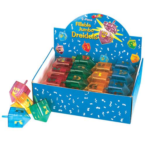 2 Part Fillable Candy Dreidel Display Box Dreidels