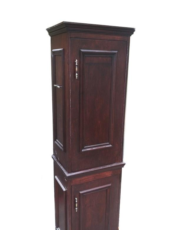 2 Piece Portable Torah Ark Cabinet Set- Mahogany