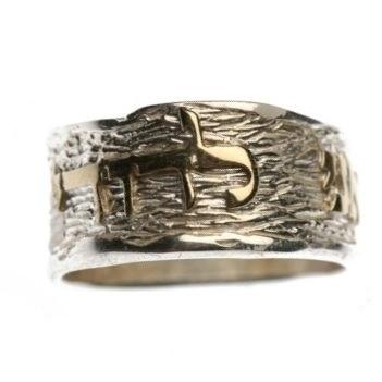 2 Tone Yellow & White Gold Ring - Beloved Silver & Gold