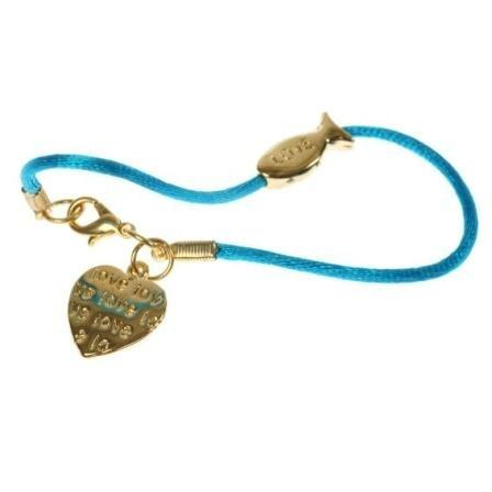 24 K Gold And Turquoise Color Love Bracelet