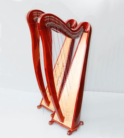 34 String Lever Harp Biblical Harp Instrument All Options