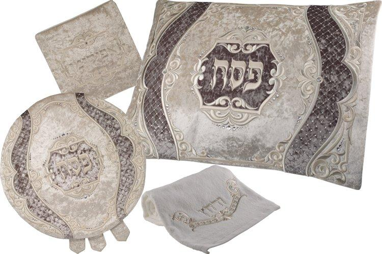 4 Piece Deluxe Passover Seder Sets Distinctive Velvet