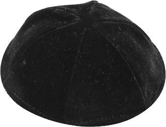 6 Part Black Yarmulke Rimless Size 6