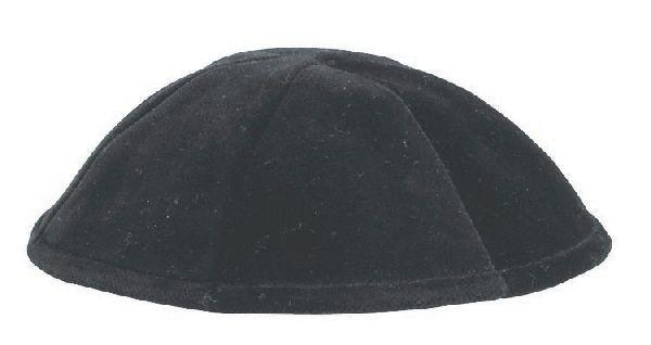 6 Part Velvet Skullcap Black. Available In Different Sizes.