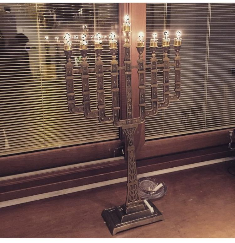 7 & 9 Branch Menorah - Giant Brass Candelabra 7 Branch