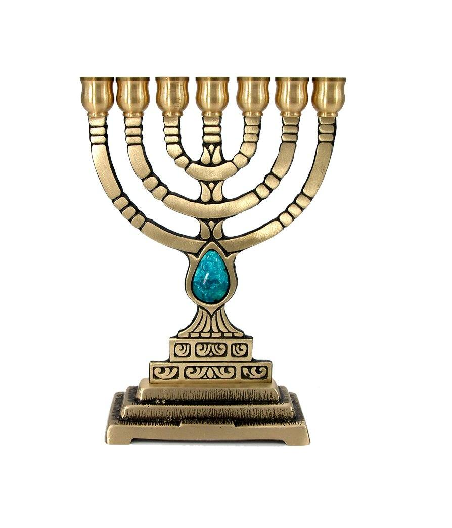 7 Branch Stone Menorah