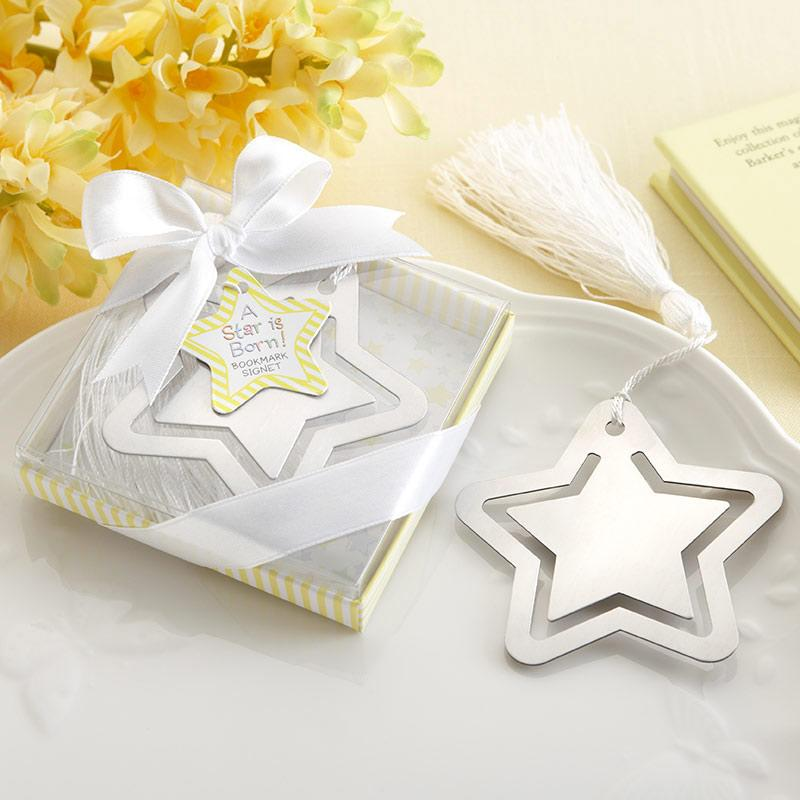 """A Star is Born!"" Metal Bookmark with White-Silk Tassel ""A Star is Born!"" Metal Bookmark with White-Silk Tassel"