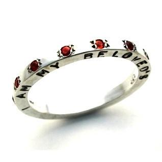 A Wedding Band (925 & Garnets)