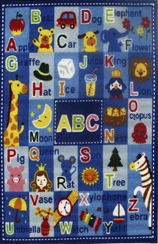 Abc Kids Rug - Children'S Floor Carpet