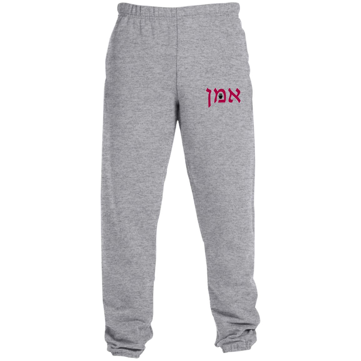 Amen Hamsa Blessed Sweatpants with Pockets Pants Oxford Grey S
