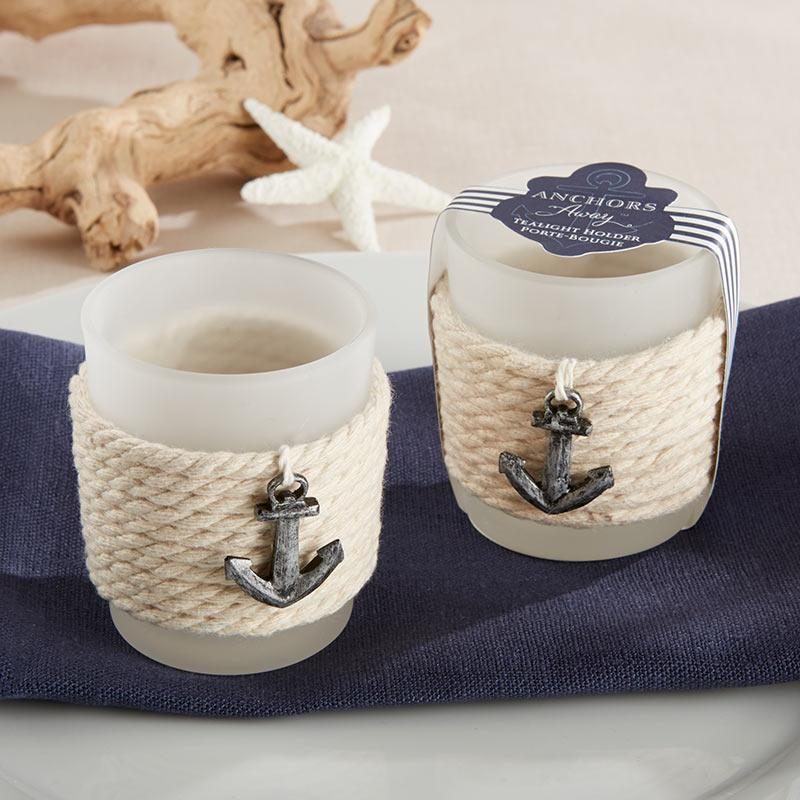 """Anchors Away"" Rope Tea Light Holder (Set of 4) ""Anchors Away"" Rope Tea Light Holder (Set of 4)"