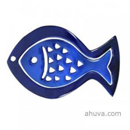 Anodize Aluminum Two Pieces Trivet - Fish Blue