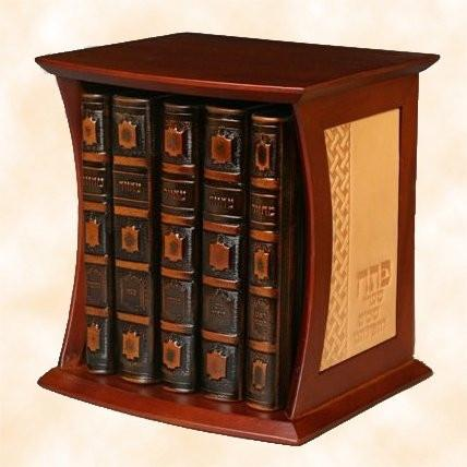 Antique Binded Cased Machzorim Prayer Book Set Brown Ashkenaz