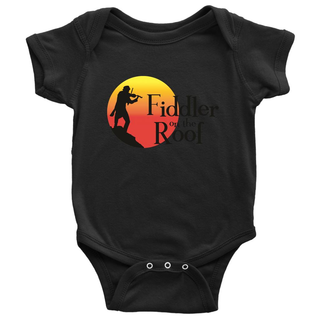 Baby Bodysuit Fiddler on the Roof in Colors T-shirt Baby Bodysuit Dark Grey NB