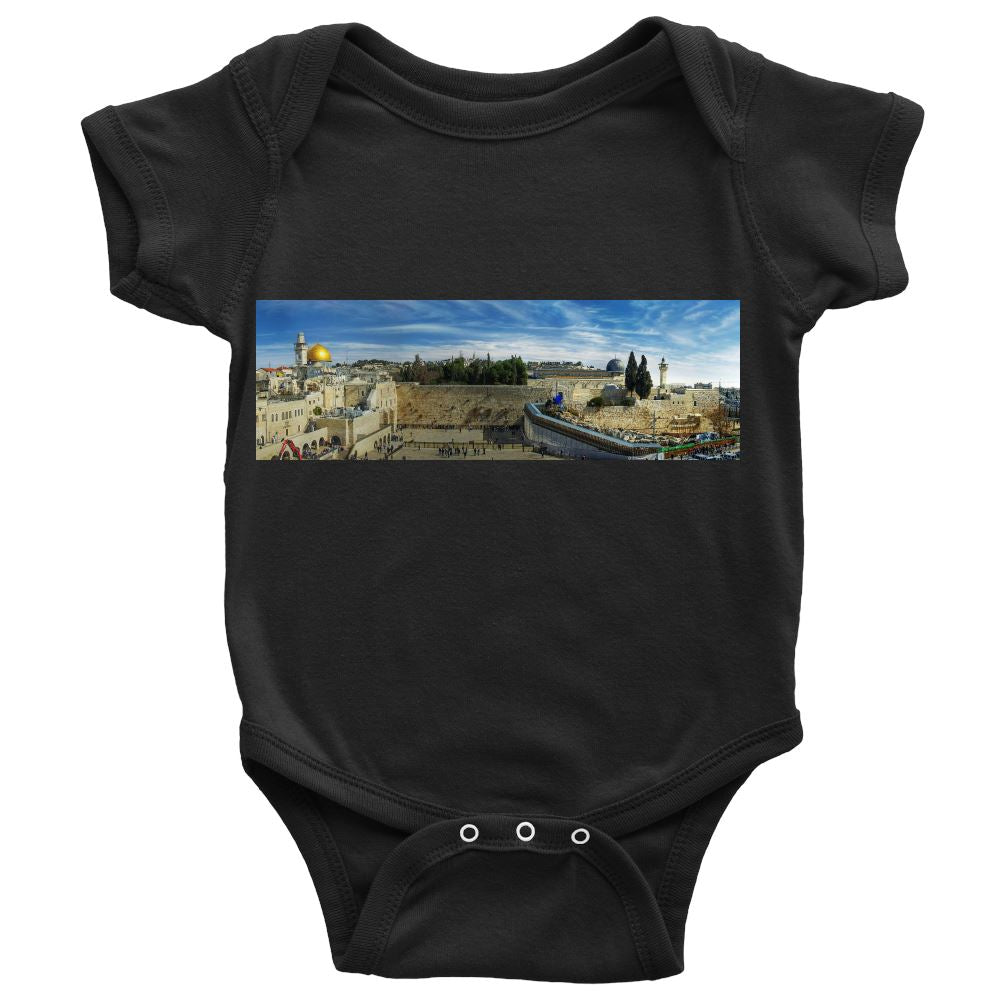 Baby Onsie - Jerusalem Take Me Home T-shirt Baby Onesie Dark Grey NB