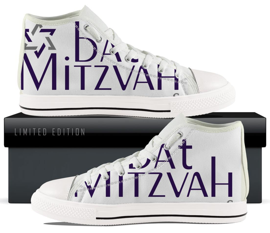 Bar / Bat Mitzvah High & Low Top Sneakers ! Shoe Bar Mitzvah High Tops US2 (EU31)
