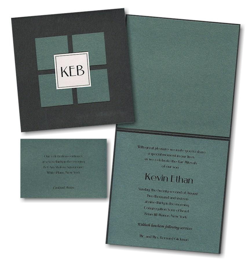 Bar Mitzvah Invitations - Vogue Beige Add Thank You Cards