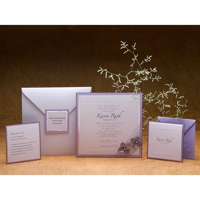 Bat Mitzvah Invitations - Lavender Add Thank You Cards