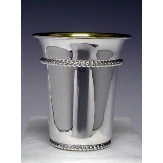 Beaded Silver Kiddush Cup None Thanks