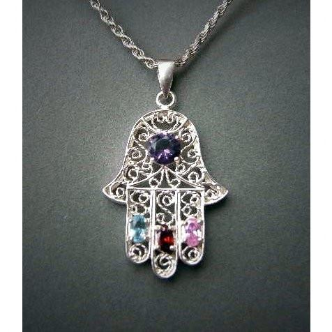 Bejeweled Filigree Hamsa Set