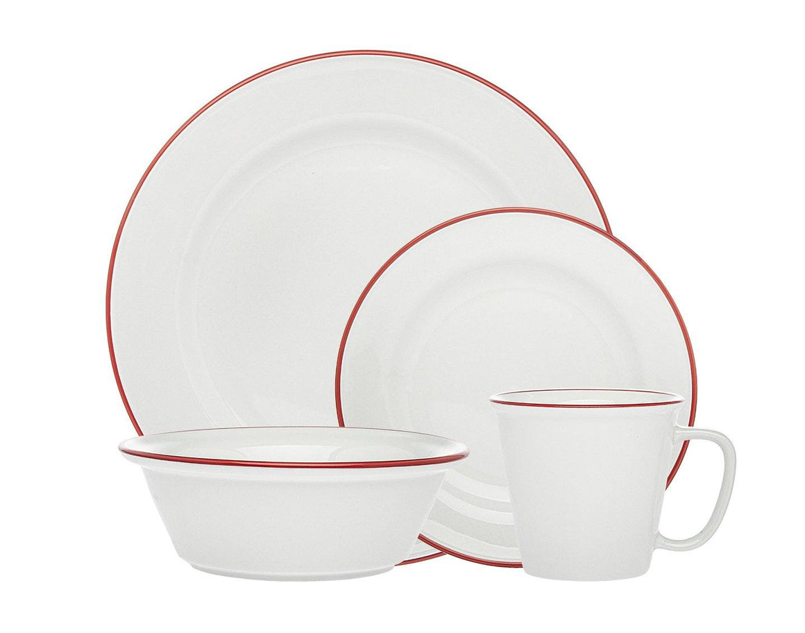 Bistro Red Band 16 Pc Porcelai BISTRO RED BAND 16 PC PORCELAI
