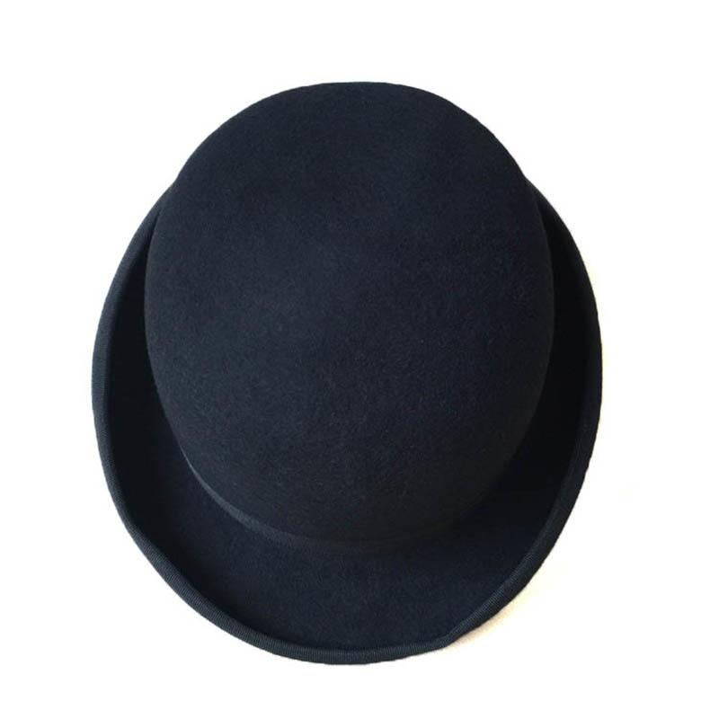 Black Formal Dome Wool Felt Hat