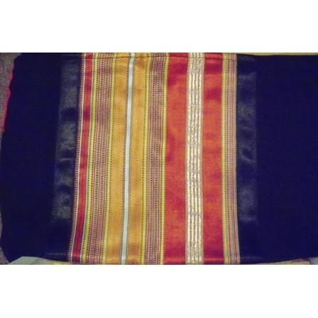 Black Wool In Silk Panel Shades Tallit