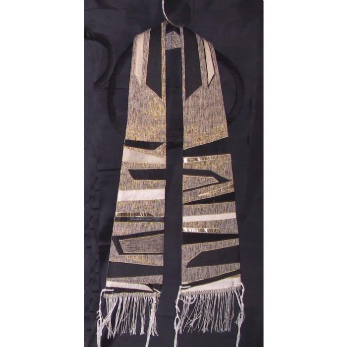 Blacks Gold Form Fitted Silk Clergy Tallit