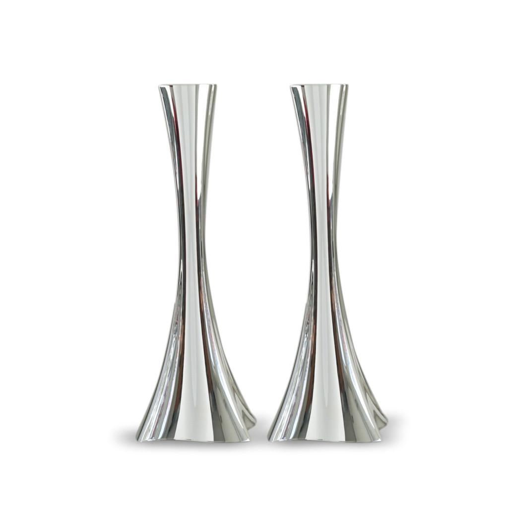 Bolero Sterling Silver Smooth Finish Candlesticks
