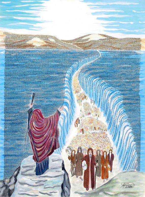 Book Exodus Moses Splitting Sea