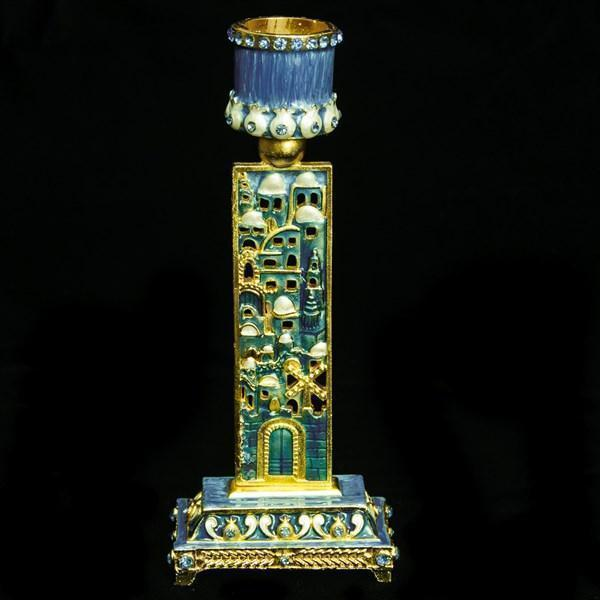 "Candlestick, Jeweled, 6"" Single"