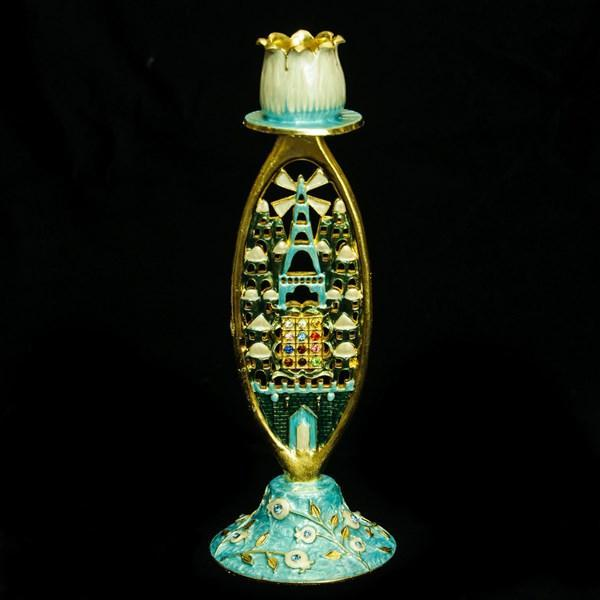 "Candlestick, Jeweled, 7.5"" Single"