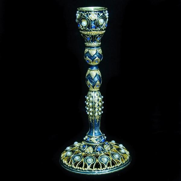 "Candlesticks, Jeweled, 6.75"" Single"
