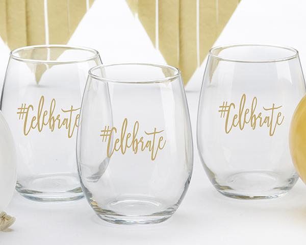 #Celebrate 15 oz. Stemless Wine Glass (Set of 4) #Celebrate 15 oz. Stemless Wine Glass (Set of 4)