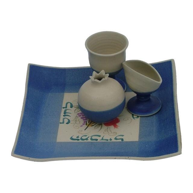Ceramic Havdalah Set Blues