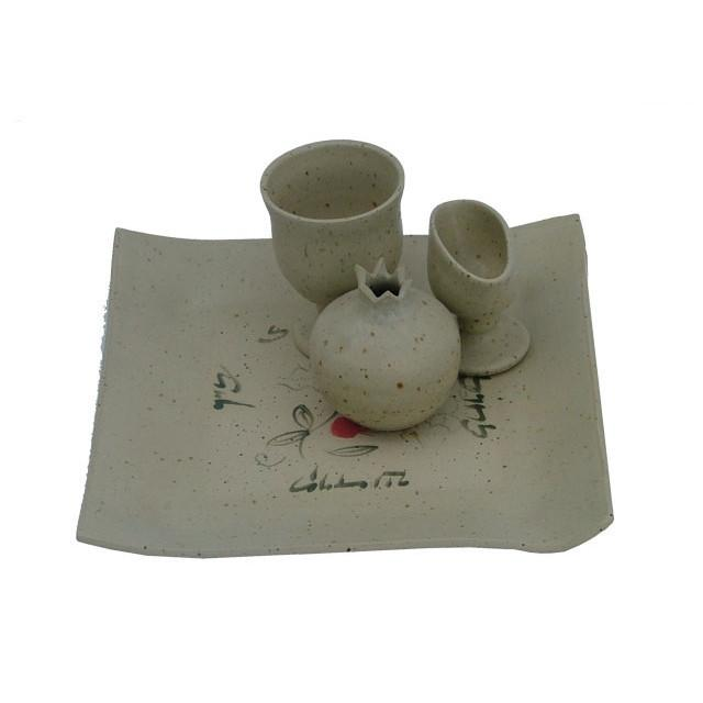 Ceramic Havdalah Set Natural Color