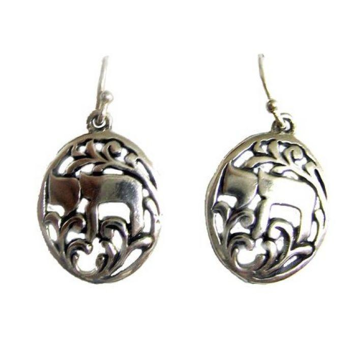 Chai Hebrew Silver Earrings