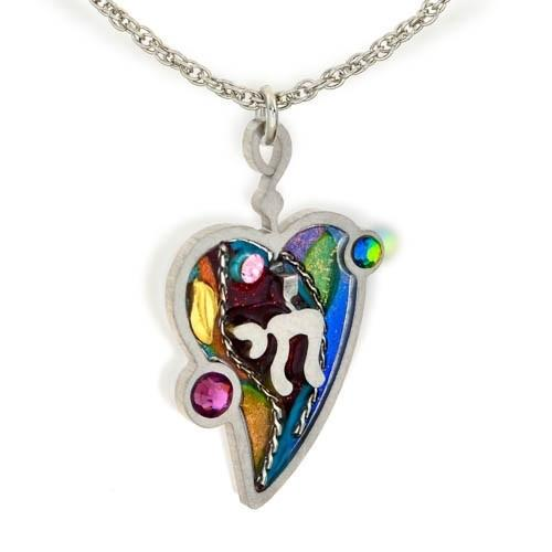 Chai In Heart Colorful Pendant