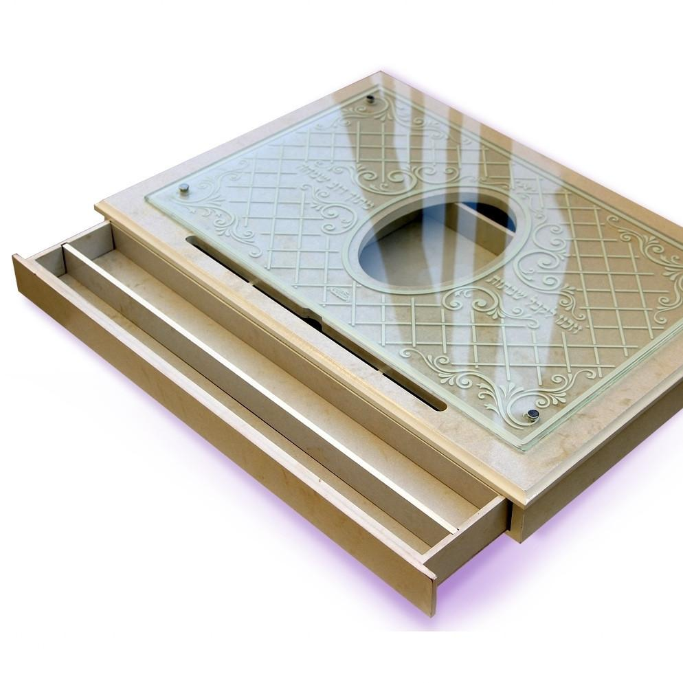 Chalah Tray With Drawer