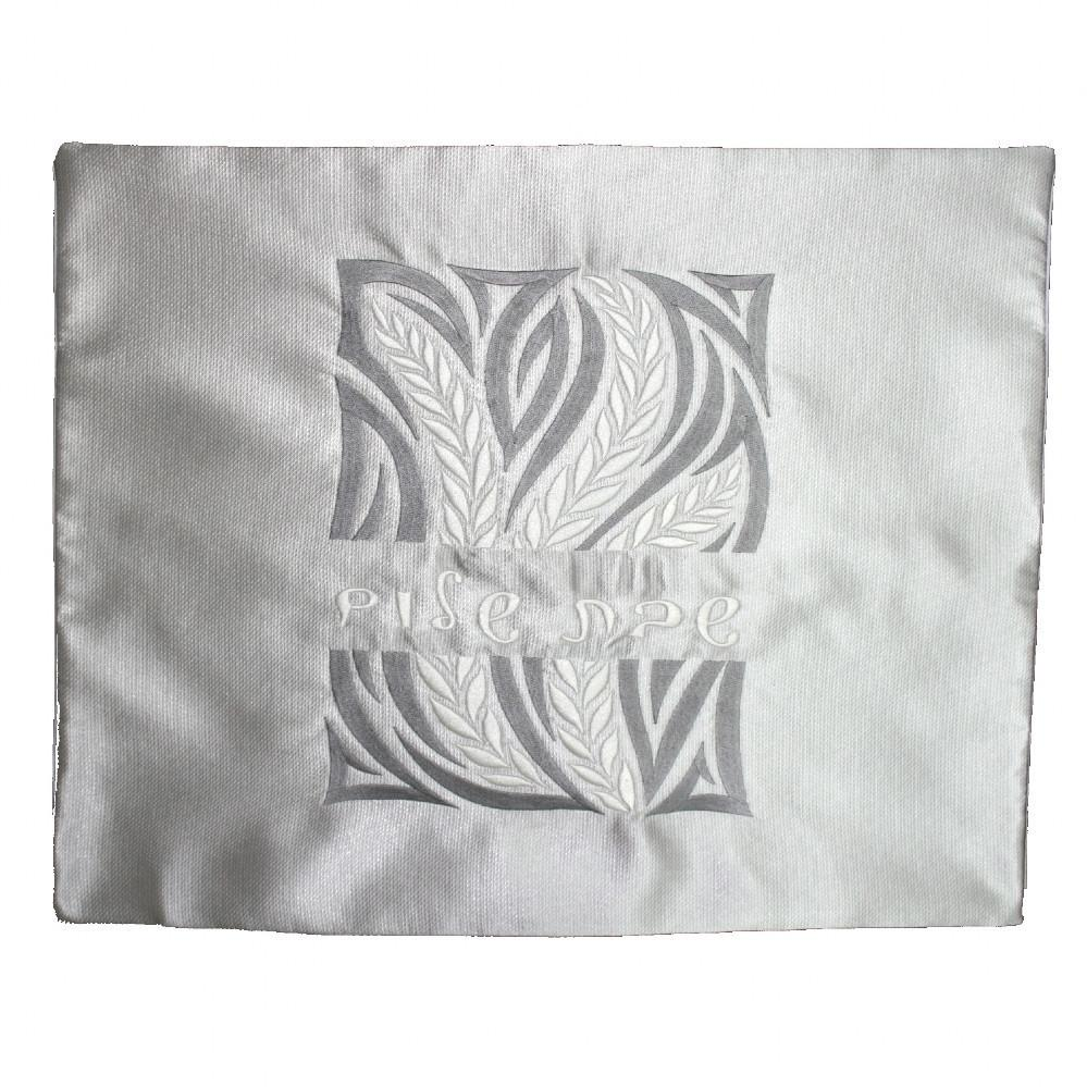 Challah Cover - Embroidered Grey Silver