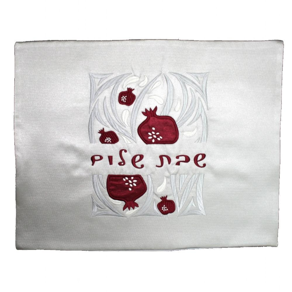 Challah Cover - Pomegranates Grey