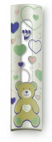 Children's Modern Mezuzah Cases - Graphical Hearts