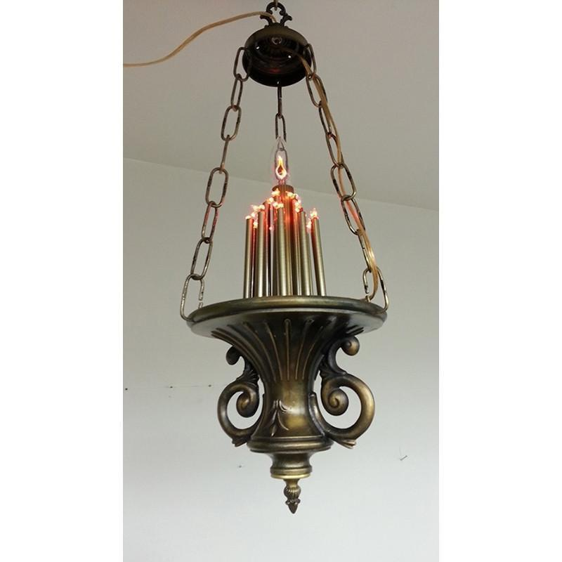Classic Ner Tamid Antique Brass Eternal Lamp Light